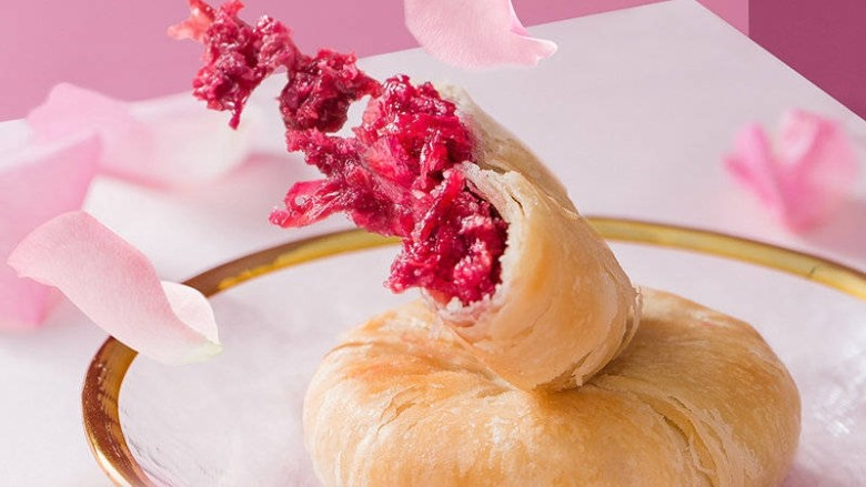 玫瑰鲜花饼