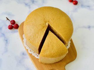 红糖马拉糕,时间到取出微微凉凉脱模,切块即可食用。