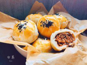 中秋必吃的梅干菜鲜肉月饼,外皮酥脆,内馅鲜香好吃到爆