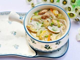 冬瓜花蛤汤,成品。