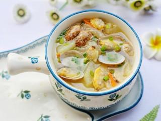 冬瓜花蛤汤,做法简单。