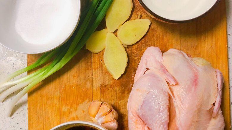 电饭锅盐焗鸡,所需食材
