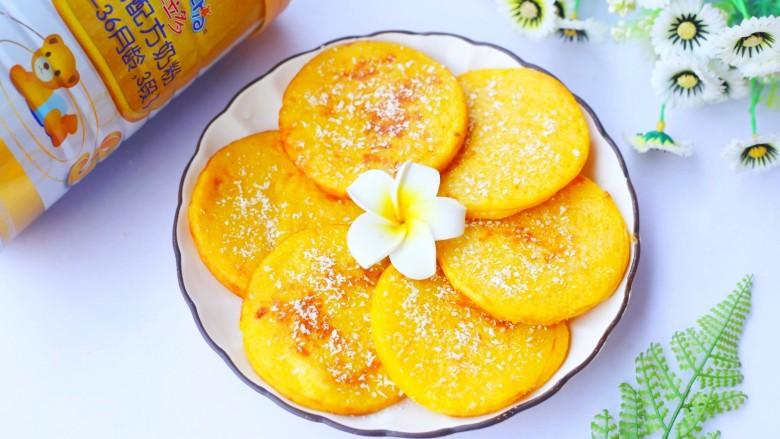 莲蓉馅南瓜椰蓉饼,超赞。