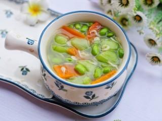 絲瓜毛豆蝦米湯