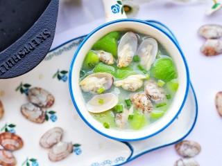 丝瓜花甲汤,非常好喝。