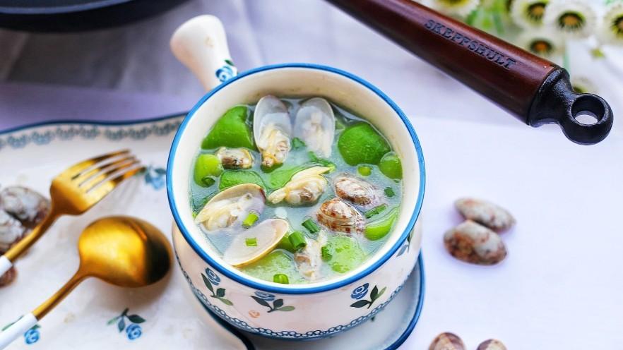 丝瓜花甲汤