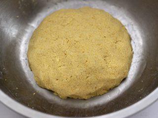 鱼锅片片,这个时候加入温水和成面团后,静置半个小时。