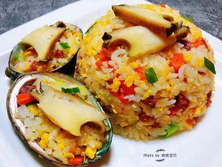 鲍鱼什锦炒饭