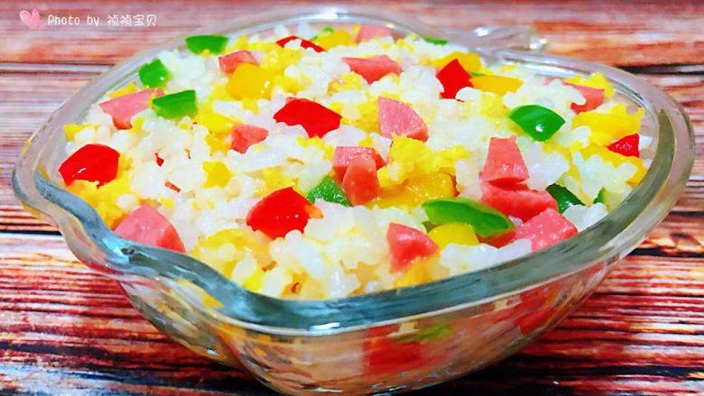 彩椒香肠蛋炒饭