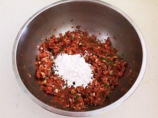 温州瘦肉丸,加入玉米淀粉