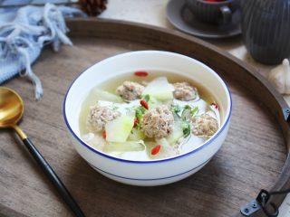 冬瓜羊肉丸子汤,成品图。