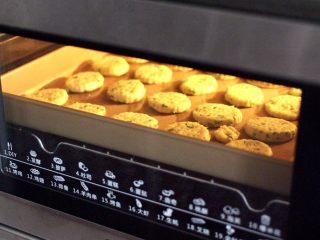 香葱苏打饼干,烤箱上火165度,下火170度烘烤15分钟左右,具体烘烤时间要根据自家烤箱脾气而定。