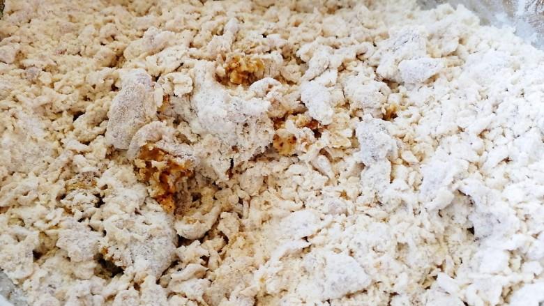 红枣馒头,搅拌成雪花装。