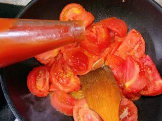 番茄炖牛腩,加入50g左右的番茄酱