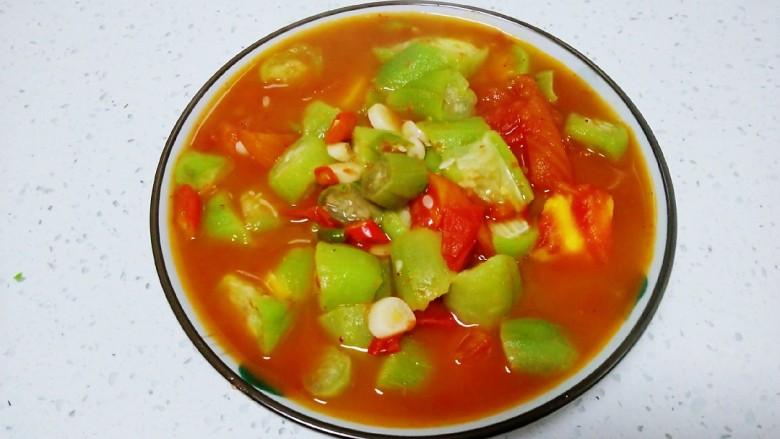 尖椒炒西红柿、丝瓜
