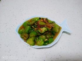 尖椒、洋葱炒丝瓜