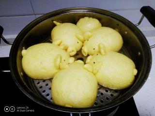 南瓜小🐷红糖、糯米、红豆包,大火煮开转中火蒸15分钟