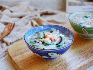 鸡蓉虾仁香菇粥