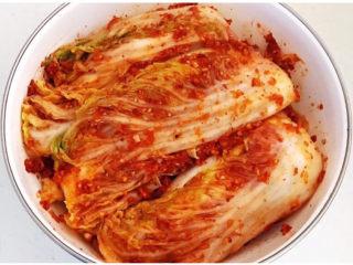 韩式辣白菜,把所有白菜都抹上辣酱