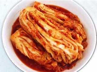 韩式辣白菜,如果喜欢吃酸口的,就直接放在室温发酵即可~