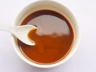 香菇油菜,加半碗水调匀。