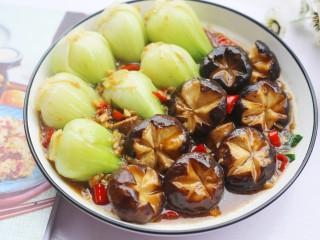 香菇油菜,成品。