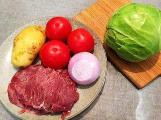 大块牛肉罗宋汤,食材大合照先咔嚓一张