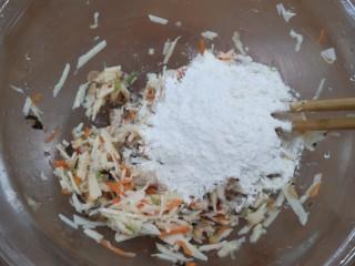 香煎藕饼,加入面粉
