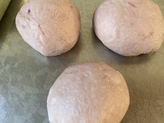 紫米面包,揉圆 松弛15分钟