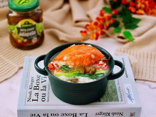 螃蟹青菜辣椒粥,成品一