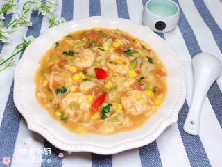 西红柿面疙瘩,一碗色香味俱全的西红柿海鲜疙瘩汤就做好了。