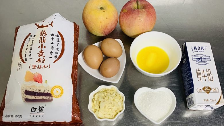 苹果千层蛋糕,准备材料