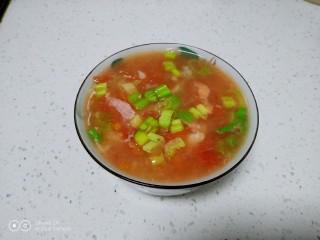 西红柿面疙瘩,盛入碗里