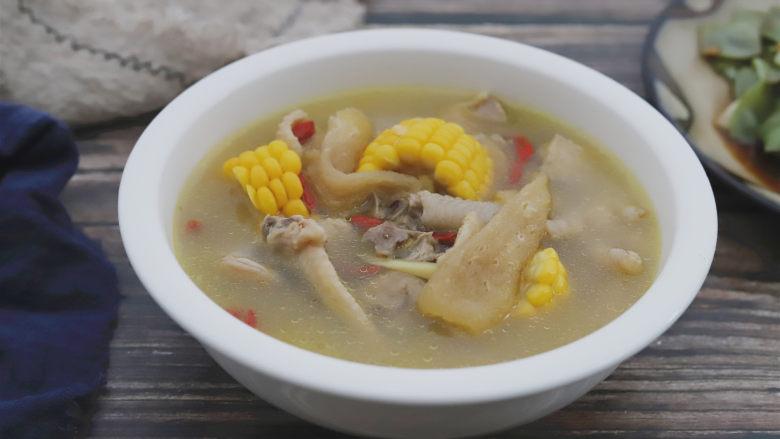 竹荪玉米鸡汤,成品