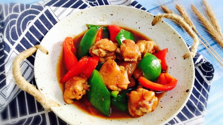 双椒炒鸡翅