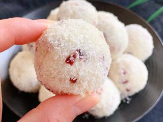 蔓越莓山药椰蓉球,成品