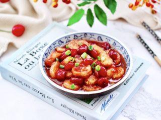 蔓越莓烩日式豆腐,成品一