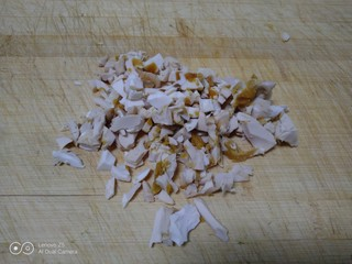 尖椒、洋葱、咸蛋清、豆角炒米,咸蛋清切碎