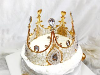 妈妈的生日蛋糕,插上金色小球
