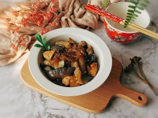 茄子粉丝煲,冬季下饭菜  暖暖的