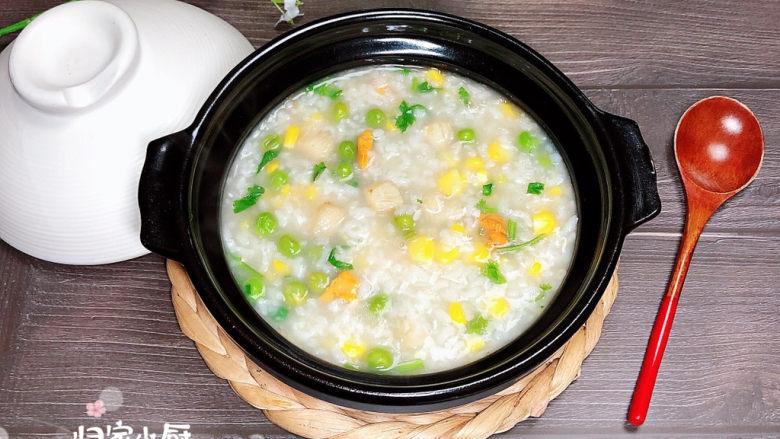 冬日暖心菜 扇贝田园砂锅粥