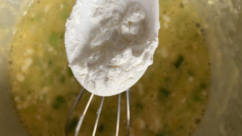 葱香鸡蛋饼,放淀粉