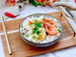 大白菜海虾打卤面,成品一