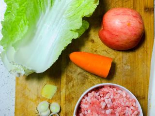 大白菜包肉,所需食材如图