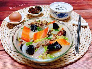 冬至美食+鸭架时蔬汤