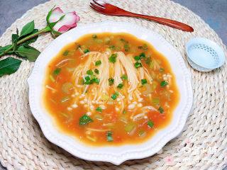 番茄金针菇汤,诱人极了!