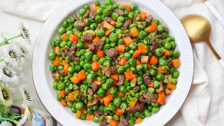 营养美味的豌豆炒牛肉,好吃到停不下来。