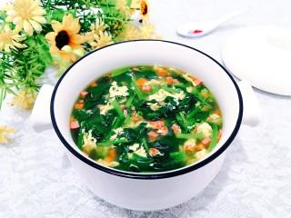 芙蓉鲜蔬汤,盛出,即可上桌