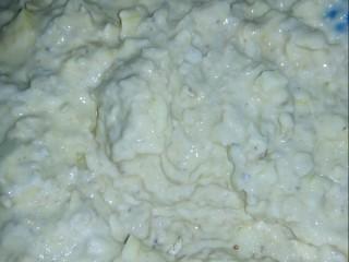 #情暖冬日#   苹果燕麦饼,将面糊全部拌匀。