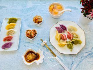 彩色猪肉酸菜大馅水饺🥟,快过新年了,和家人一起吃彩色的年夜饺子吧😋